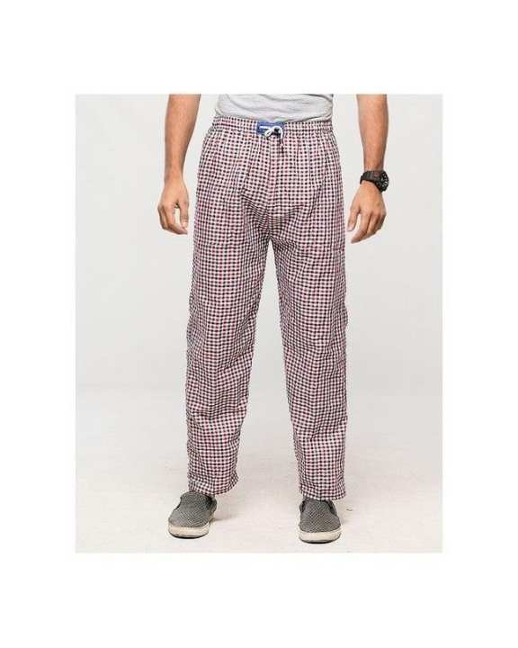 Multicolour Checkered Cotton Pajamas For Men