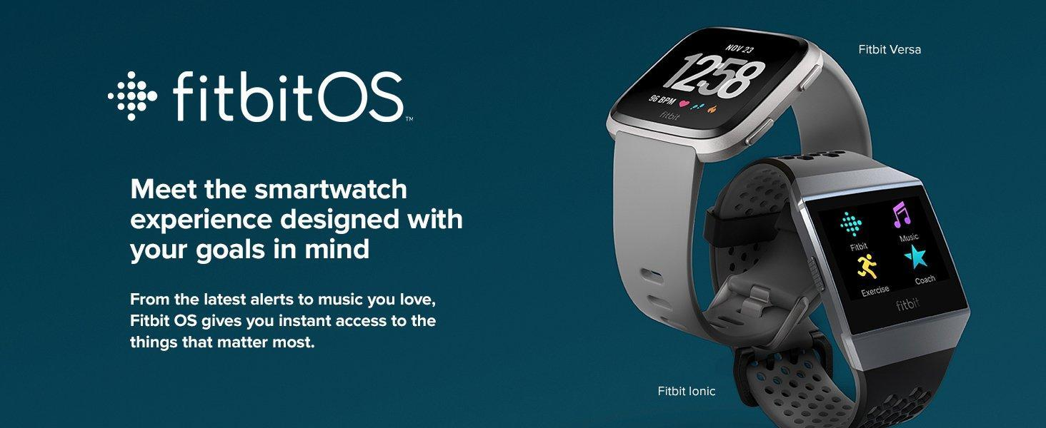 Fitbit Ionic Fitness Gps Smart Watch Charcoal Smoke Gray Buy Sell Next Page Versa Comparison