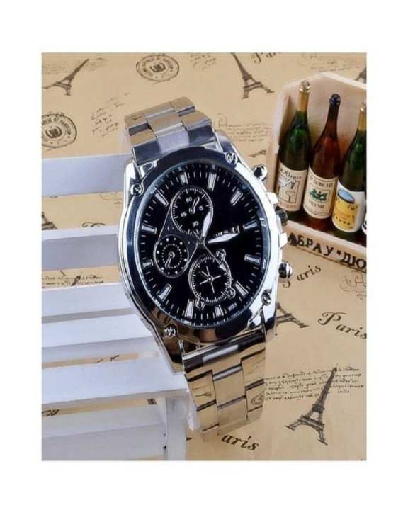 Stainless Steel Band Machinery Sport Quartz Business Wrist Watch for Men