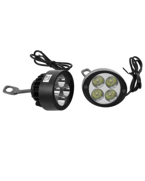 LED Motorcycle Spot Light with Flasher KD-7  Black