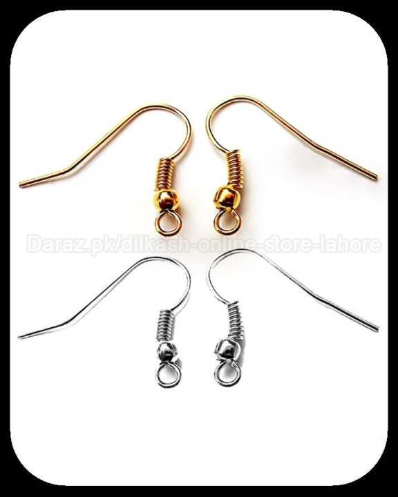 100 Pairs Of Both Earrings Hooks Base For Jewellery Making