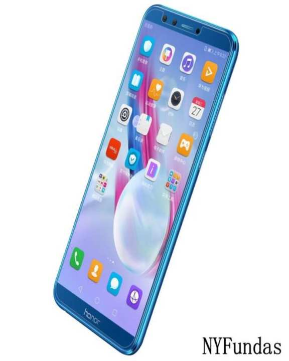 Pack Of 2 Honor 9 Lite Tempered Glass + Transparent Silicone Cover (Imported)