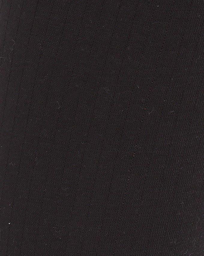Black Rib Lycra Cotton Tights