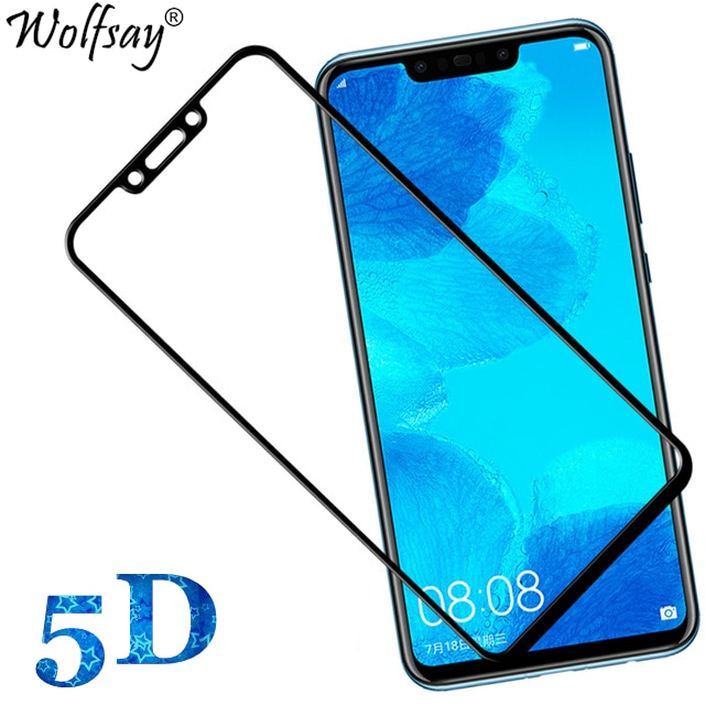 5D Full Glue Tempered Glass for Honor Play _ Full Edge to Edge  Coverage_100% Touch Sensitivity_Shatter Proof_Black