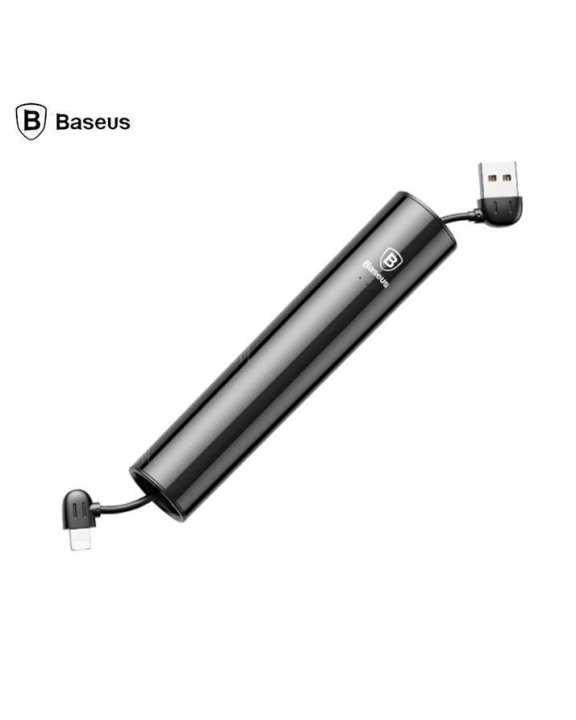 No.5 2000mAh Micro USB Cable Power Bank - Black