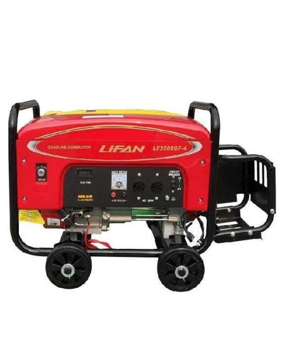 LIFAN Petrol & Gas Generator 6.5 KW - LF8000GF4 - with Gas Kit & Wheels Kit