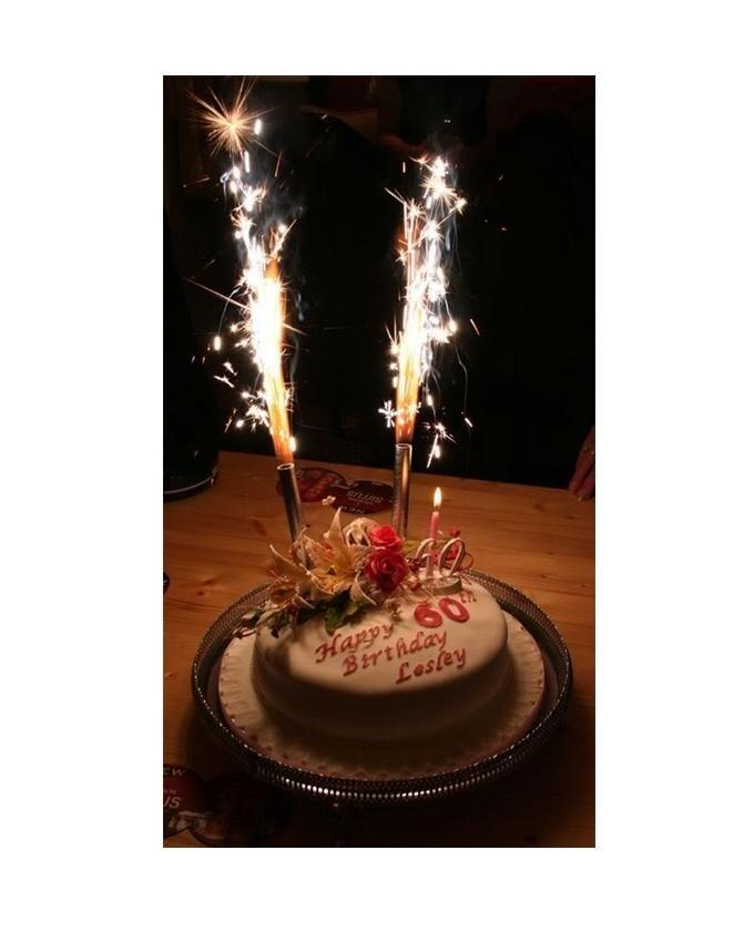 Birthday Sparkling Candles - Medium - Pack Of 4 - Multicolor
