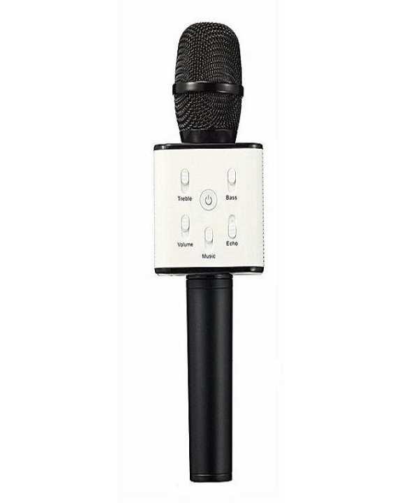 Bluetooth Microphone Wireless Microphone Q7 Mic Speaker Ktv Super Bass Portable Speaker - Black