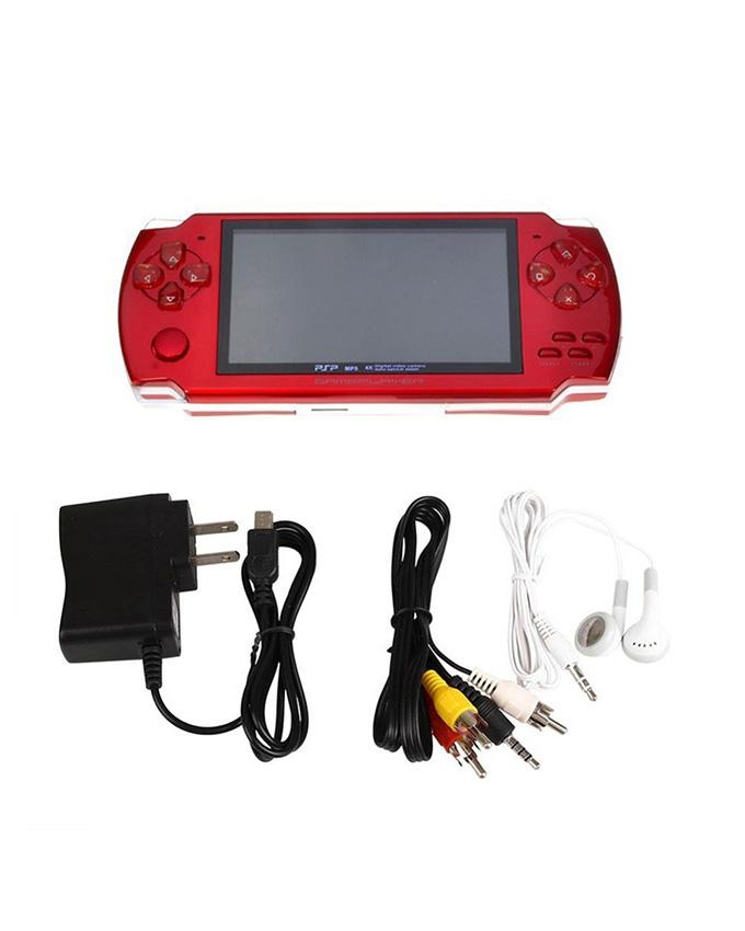 64 Bit - Preloaded Video Games Console - 4.5 Inch Screen - 4gb Memory - Vga Camera - Red