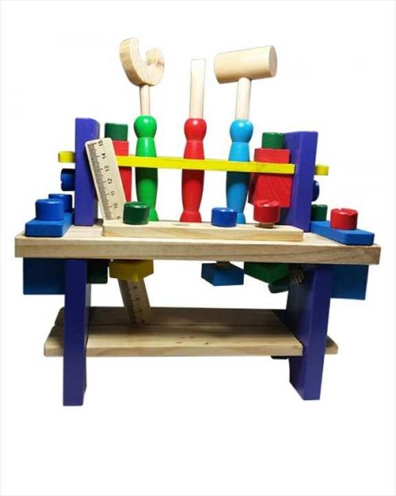 Wooden Tool Set - Multicolor