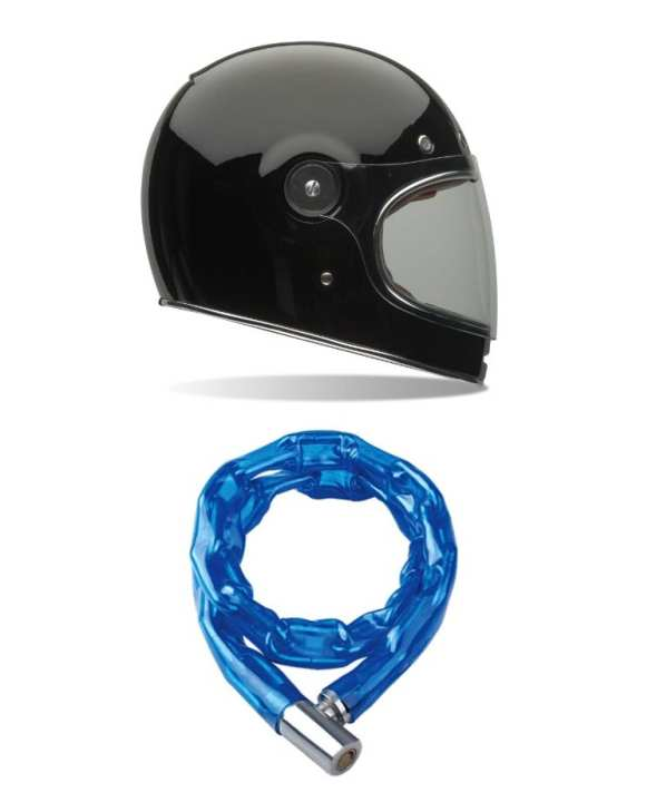Bike Helmet and Chain Lock - Pack of 2