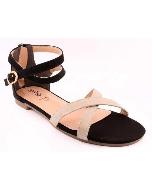 Black Synthetic Formal Sandal for Women