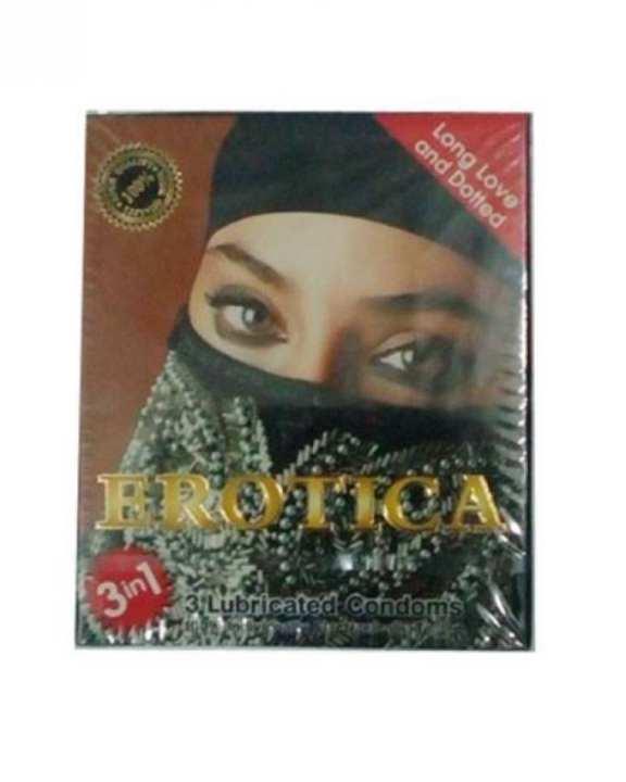 Erotica Long Love Dotted Condom