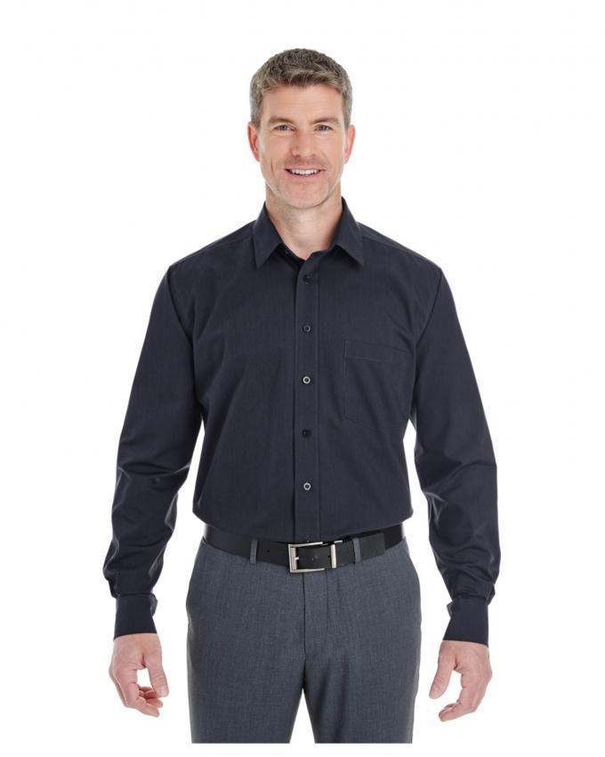 Men Cotton Fabric Black Shirt