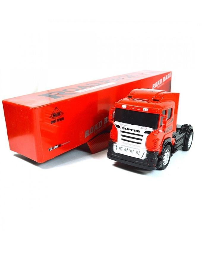 Remote Control Rechargeable Long & Heavy Truck - Red