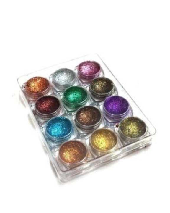 Pack of 12 : Pressed Glitters - Multicolor