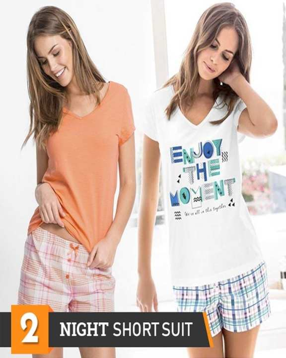 Rex Bazar - Pack Of 2 Short Night Suits For Women