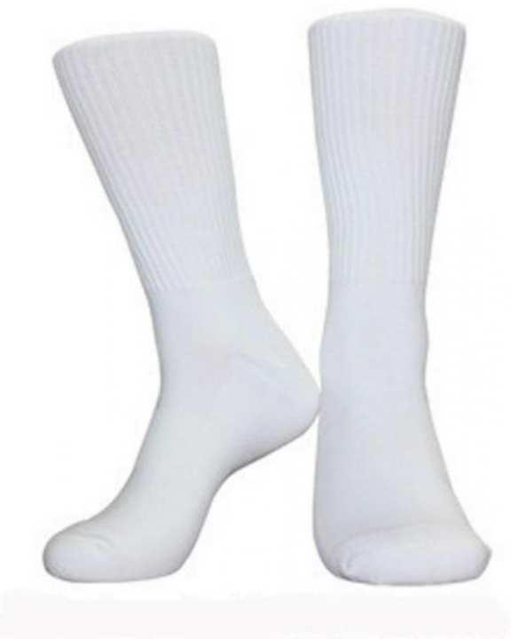 White Cotton Long Socks for Men