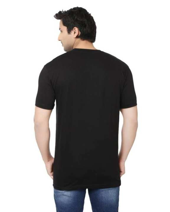 Black Bear Printed Cotton T Shirt for Men