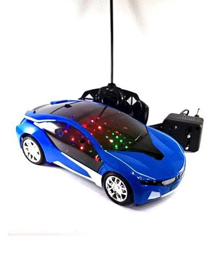 Kids Remote Control Car Charging 3D Light Flashing Car - KRCC