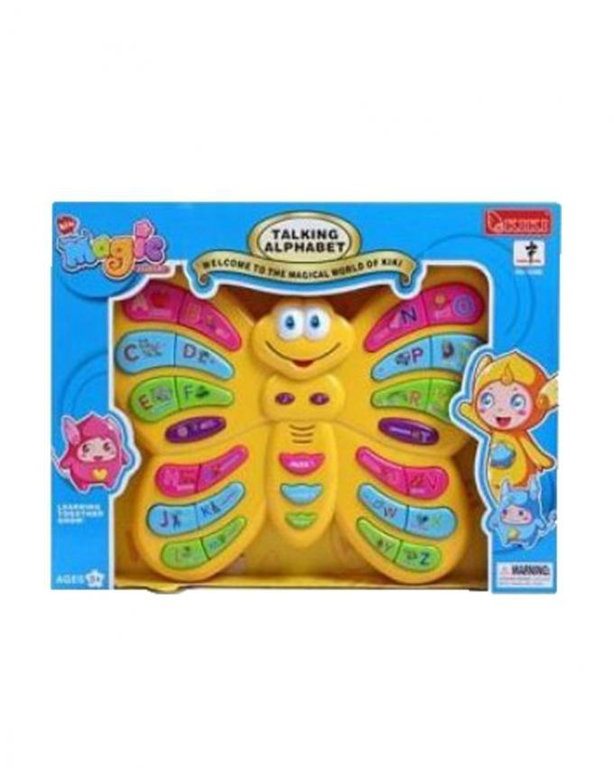 Butterfly Talking Alphabet Toy For Kids - Multicolour