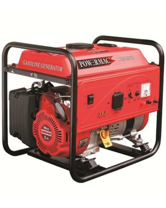 PM1900 - Powermac Petrol Generator - 1200Watts(Max.) - Red