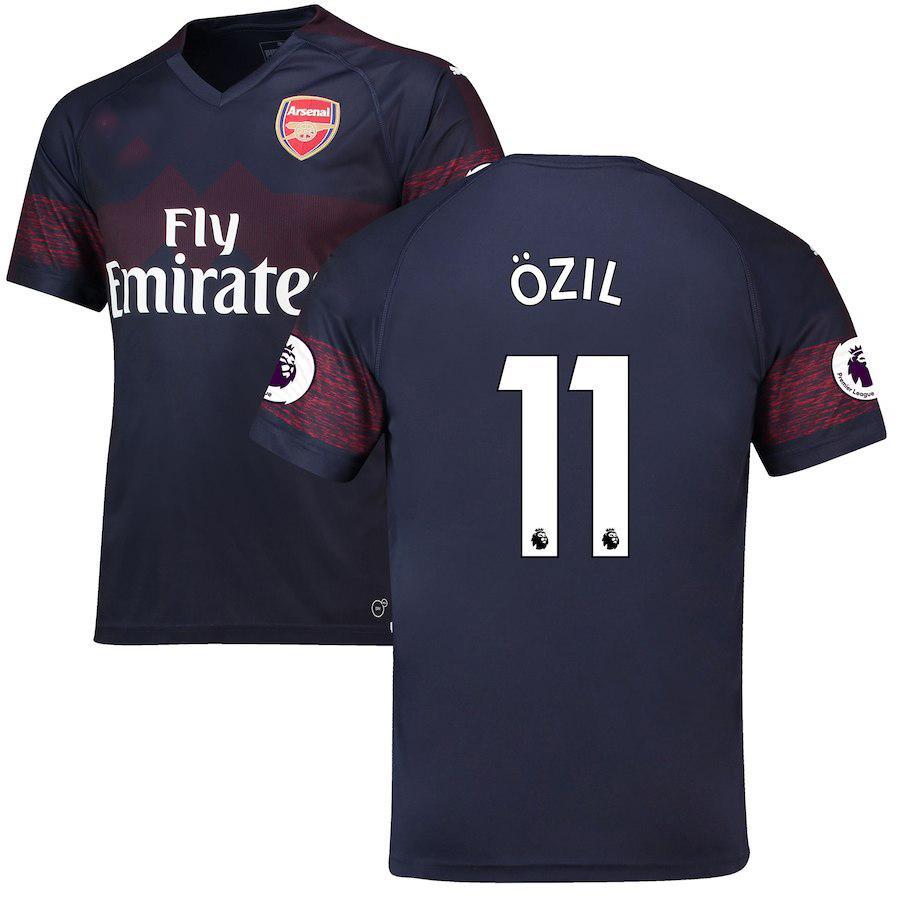 c3859e3c6 Arsenal Mesut Ozil Away Shirt Kit Jersey 2018-19