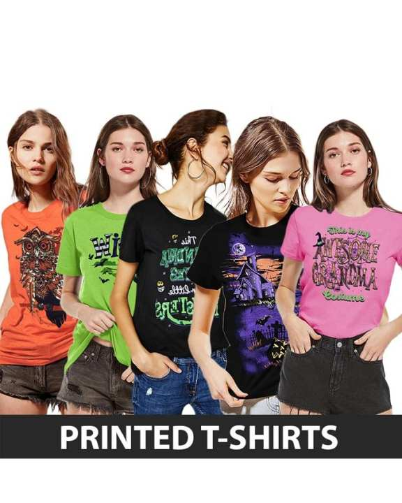 Rex Bazar - Pack Of 5 Printed T Shirt For Women