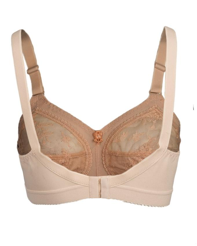 Belgium Collection Skin Cotton Lace Up Bra for Women