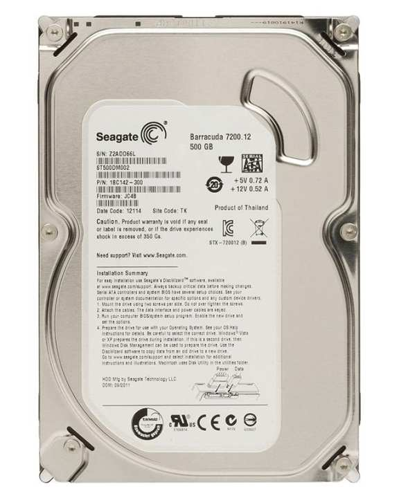 SATA Hard Disk 500 GB for Desktop (Pipeline / Baracuda)