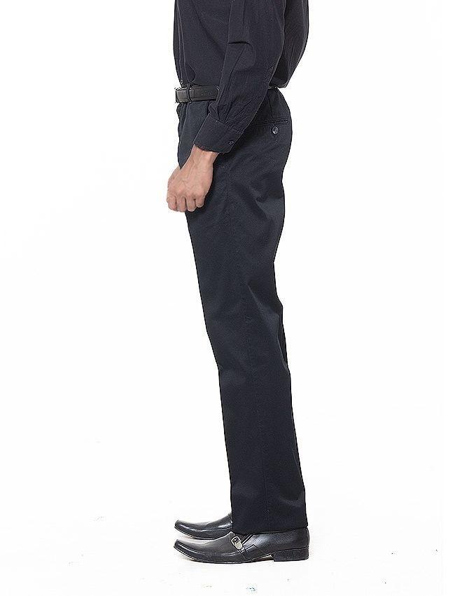 Black Cotton Pants For Men