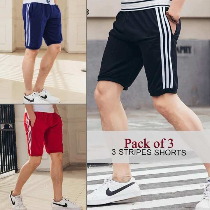 Men's Pack of 3 Stripes Shorts