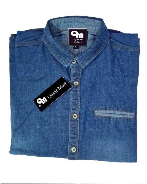 Qasar Mart Export Quality - Mens Denim Shirt