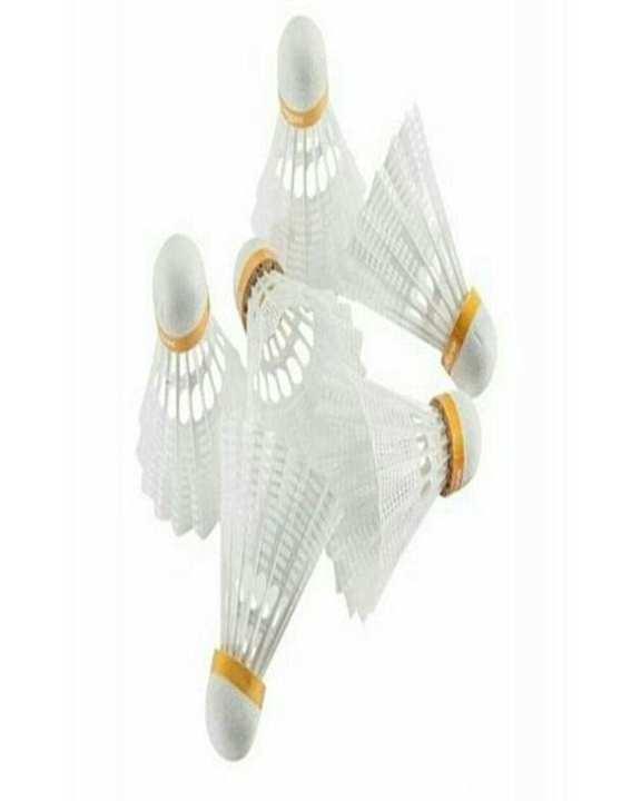 Pack of 6 - Badminton Shuttle - White