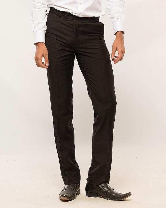 Black Washing Wear Slim Fit Pant for Men