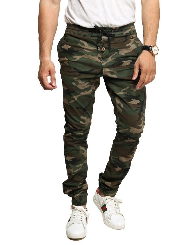 002bb429228f Men S Camouflage Green Stretch Trousers