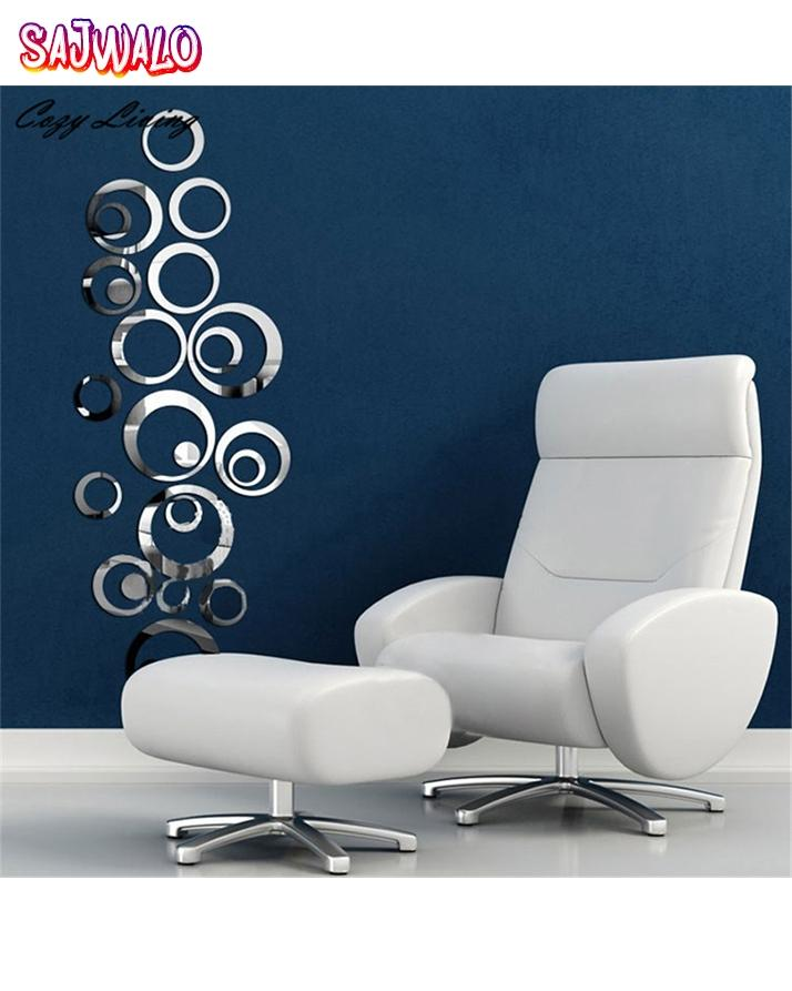 Circle Mirror Wall Sticker - For Home Decoration