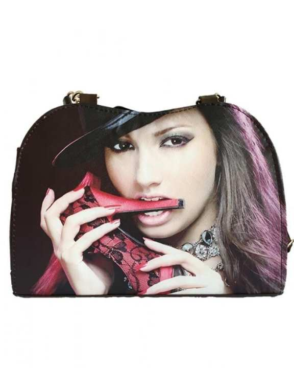Multicolor Leather Printed Handbag for Women