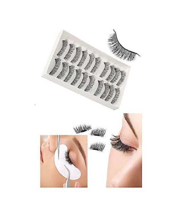 10 Pcs Bundle Pack Eyelashes - Black