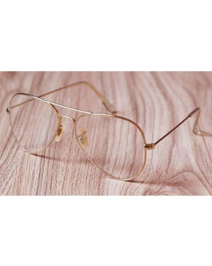 53f9cd8a05a 469 items found in Prescription glasses. Unisex Aviator Metal Gold With  Transparent Glass