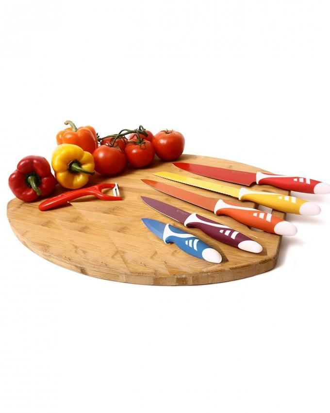 Stainless Steel Non Stick Coating Blades - 6 Pcs - Multicolor