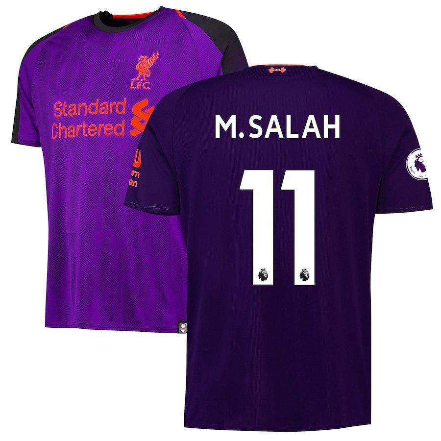 Liverpool M Salah Away Shirt Kit Jersey 2018-19 4d9a38b13