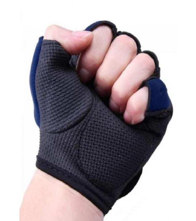 Protection Neoprene Gym Training Gloves - Black & Blue