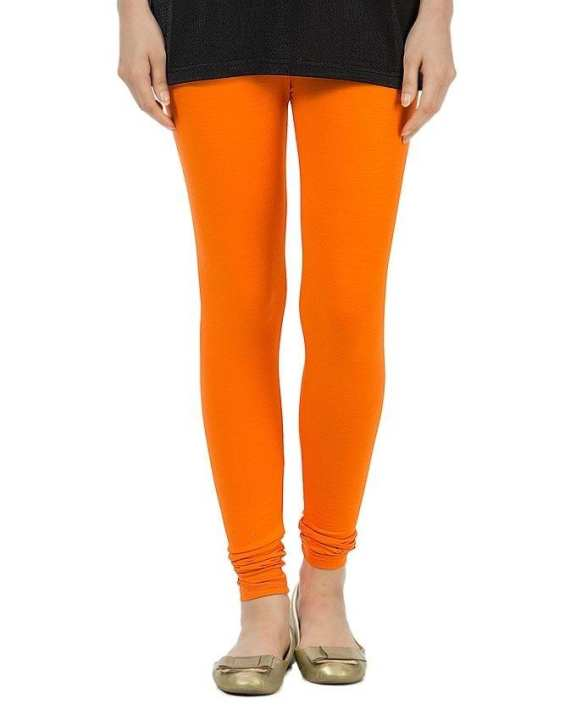 Orange Jersey Skin Fitter Tights For Women - FA0294