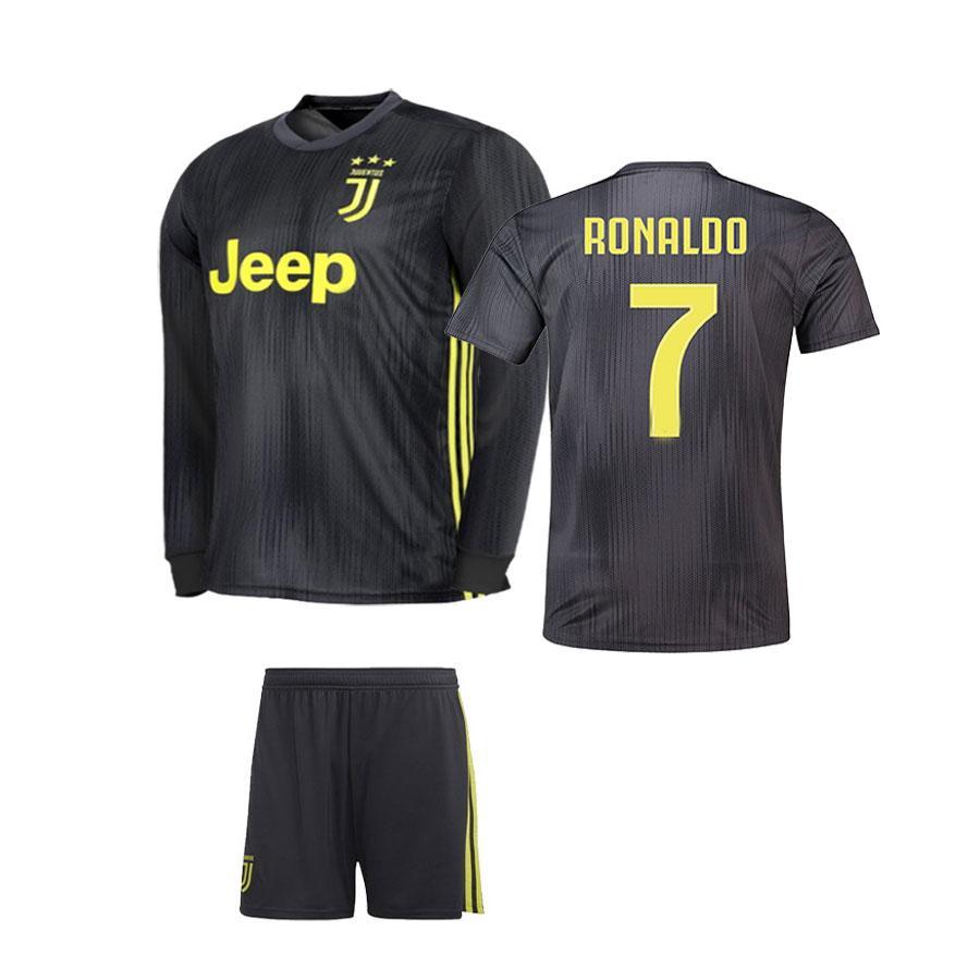 new style fd299 825b0 Kids Boys Juventus Cristiano Ronaldo CR7 Away Shirt & Short Kit
