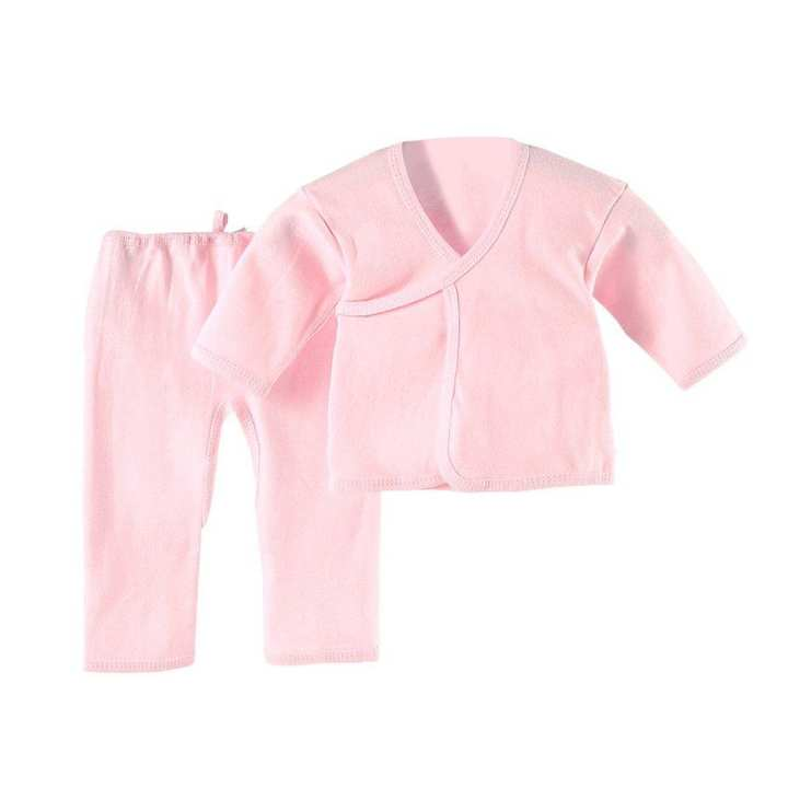 0-3 Months Infant Suit Comfortable Newborn Clothing Soft Pure Cotton Underwear pink