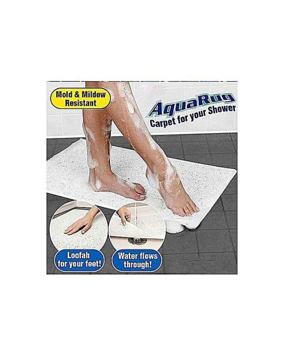 Anti Slip Aqua Rug - White
