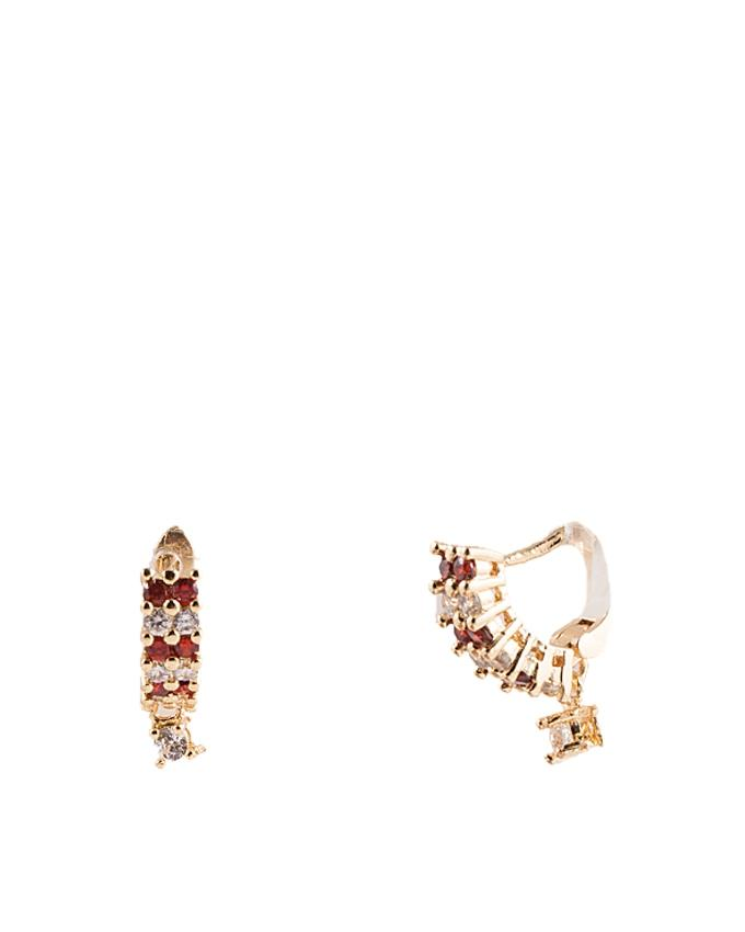 Golden Alloy Earrings for Women - ER-0052
