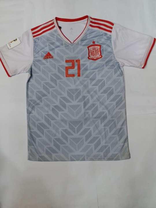 Spain Away Sliva Jersey