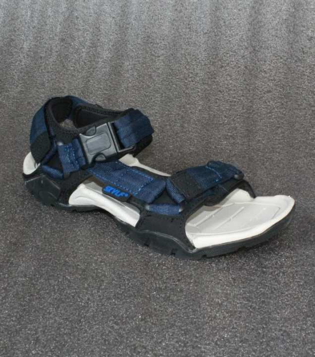 Blue Fabric Sports Sandals For Men